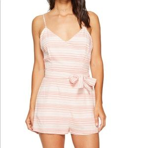 BB Dakota Striped Romper